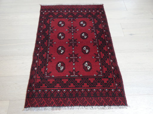 Afghan Hand Knotted Turkman Rug Size: 112 x 77cm