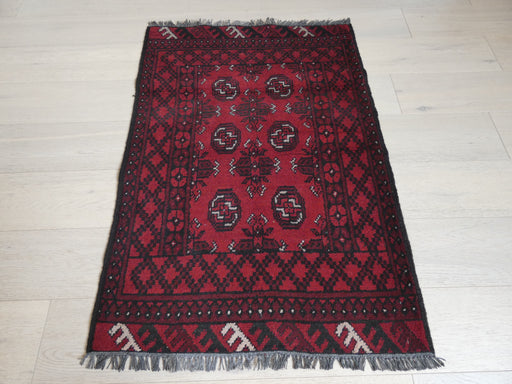 Afghan Hand Knotted Turkman Rug Size: 120 x 82cm