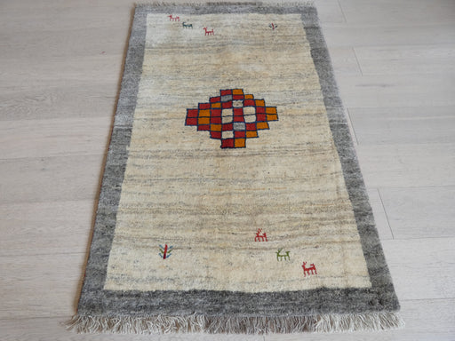Authentic Persian Hand Knotted Gabbeh Rug Size: 147 x 97cm