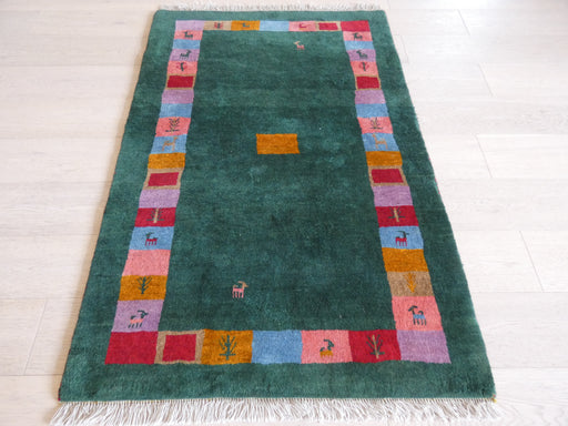 Authentic Persian Hand Knotted Gabbeh Rug Size: 104 x 154cm