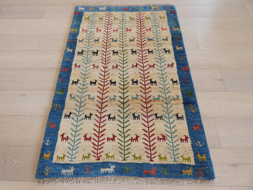 Authentic Persian Hand Knotted Gabbeh Rug Size: 97 x 145cm