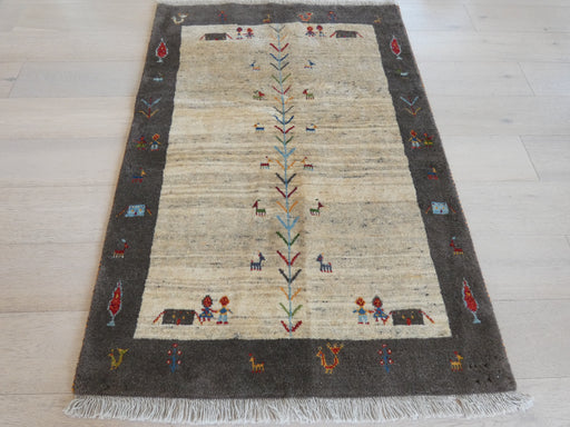 Authentic Persian Hand Knotted Gabbeh Rug Size: 102 x 150cm