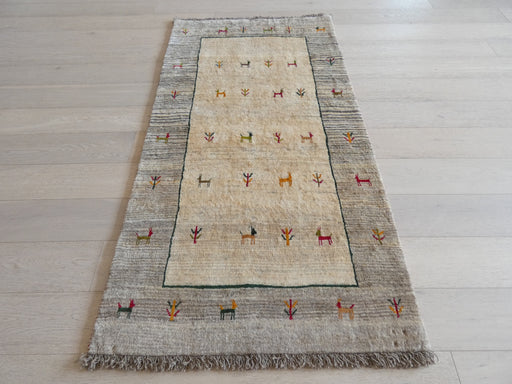 Authentic Persian Hand Knotted Gabbeh Rug Size: 103 x 195cm