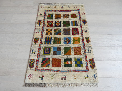 Authentic Persian Hand Knotted Gabbeh Rug Size: 122 x 80cm