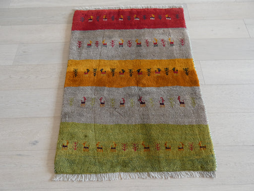 Authentic Persian Hand Knotted Gabbeh Rug Size: 120 x 87cm