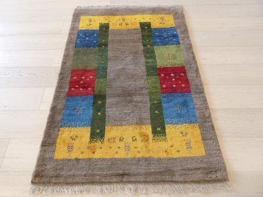 Authentic Persian Hand Knotted Gabbeh Rug Size: 106 x 155cm