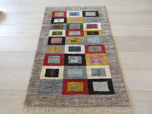 Authentic Persian Hand Knotted Gabbeh Rug Size: 119 x 80cm