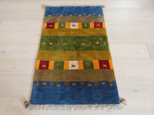 Authentic Persian Hand Knotted Gabbeh Rug Size: 124 x 78cm