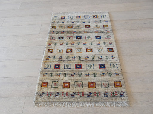 Authentic Persian Hand Knotted Gabbeh Rug Size: 120 x 82cm