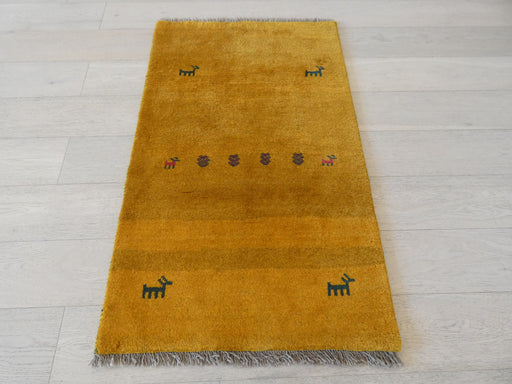 Authentic Persian Hand Knotted Gabbeh Rug Size: 128 x 79cm