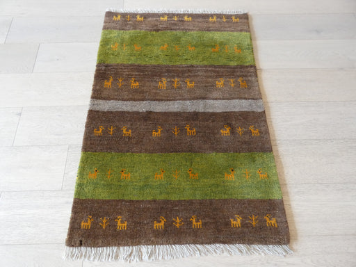 Authentic Persian Hand Knotted Gabbeh Rug Size: 116 x 80cm