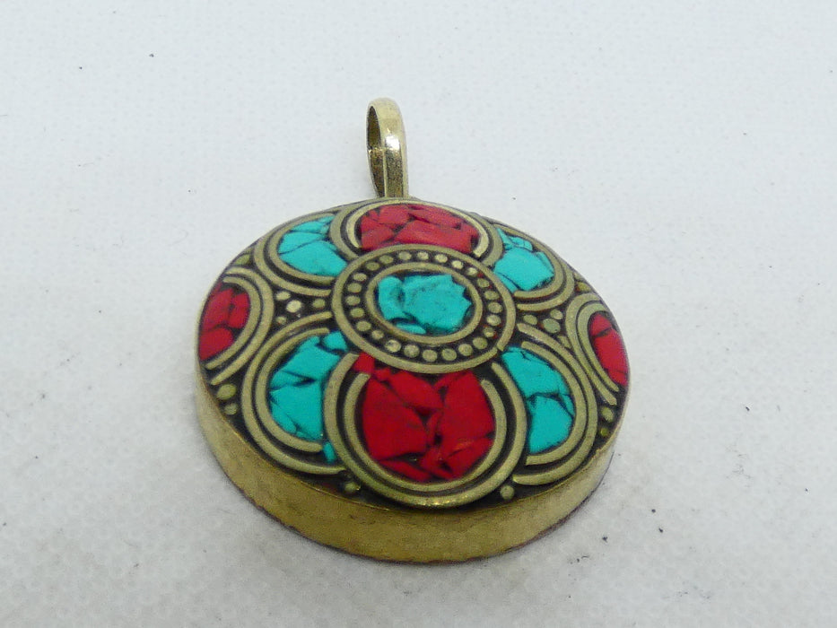 Nepalese Necklace Pendant, Handmade and Traditional