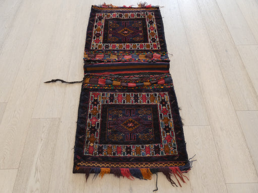 Vintage Hand Made Afghan Saddle Bag Size: 140cm x 63cm