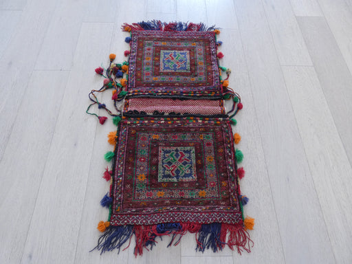 Vintage Hand Made Afghan Saddle Bag Size: 105cm x 49cm