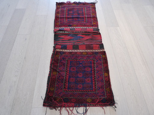 Vintage Hand Made Afghan Saddle Bag Size: 170cm x 66cm