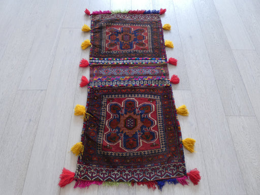 Vintage Hand Made Afghan Saddle Bag Size: 129cm x 56cm