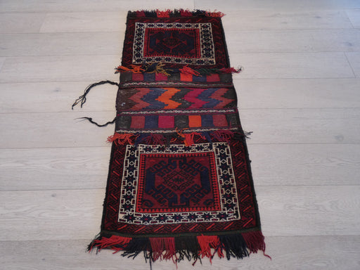 Vintage Hand Made Afghan Saddle Bag Size: 133cm x 59cm