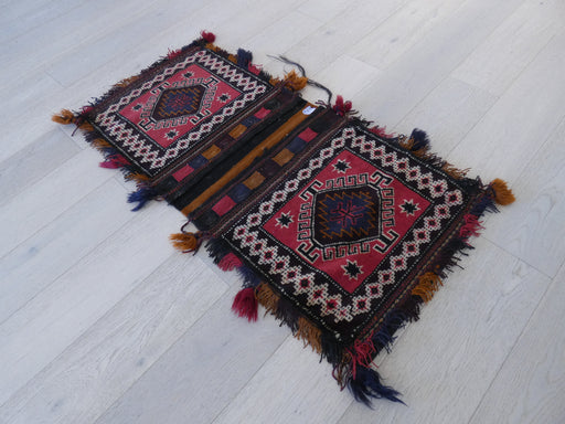 Vintage Hand Made Afghan Saddle Bag Size: 126cm x 57cm