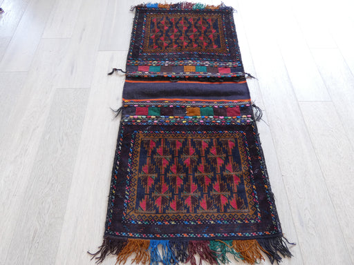 Vintage Hand Made Afghan Saddle Bag Size: 147cm x 69cm