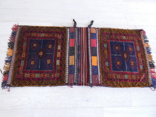 Vintage Hand Made Afghan Saddle Bag Size: 152cm x 68cm