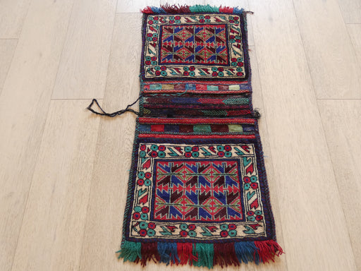 Vintage Hand Made Afghan Saddle Bag Size: 92cm x 42cm