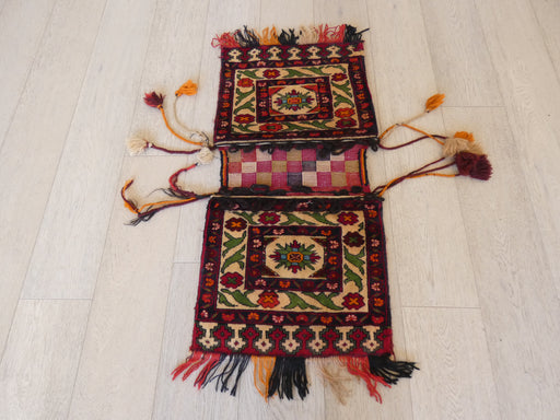 Vintage Hand Made Afghan Saddle Bag Size: 99cm x 47cm