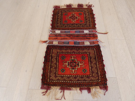 Vintage Hand Made Afghan Saddle Bag Size: 107cm x 57cm