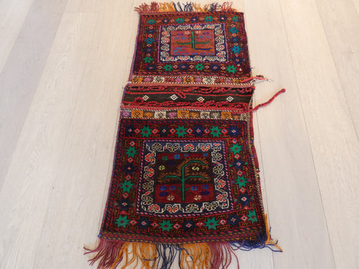 Vintage Hand Made Afghan Saddle Bag Size: 107cm x 53cm