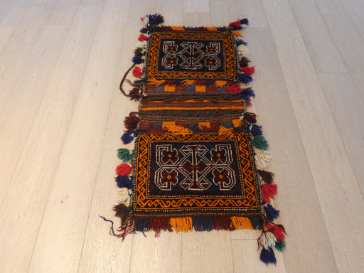 Vintage Hand Made Afghan Saddle Bag Size: 123cm x 53cm
