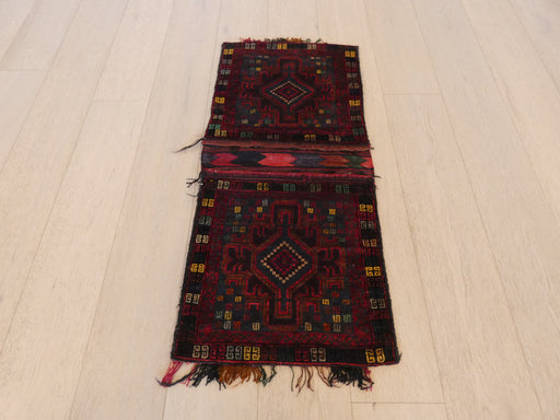 Vintage Hand Made Afghan Saddle Bag Size: 106cm x 47cm