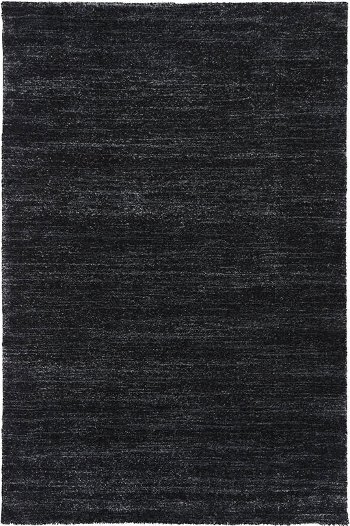 Plain Design Black Colour Rug