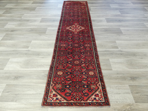 Persian Hand Knotted Hossein Abad Hallway Runner Size: 285 x 70cm