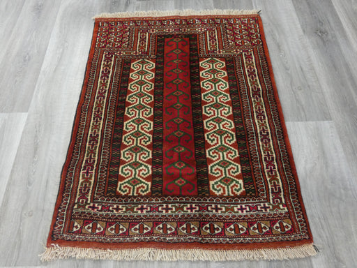 Persian Hand Knotted Prayer Rug Size: 108 x 81cm-Prayer Rug-Rugs Direct
