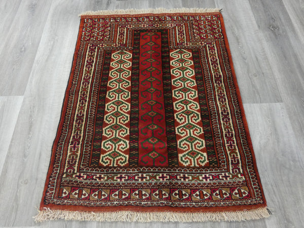 Persian Hand Knotted Prayer Rug Size: 110 x 80cm