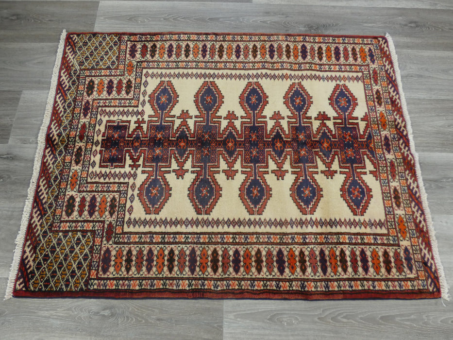 Persian Hand Knotted Prayer Rug Size: 117 x 90cm-Prayer Rug-Rugs Direct