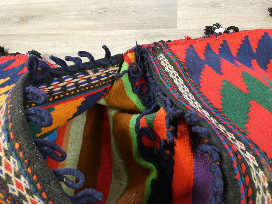 Vintage Nomadic Hand Made Saddle Bag-Saddle Bag-Rugs Direct