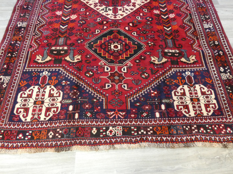 Persian Hand Knotted Shiraz Rug Size: 260 x 180 cm-Shiraz Rug-Rugs Direct