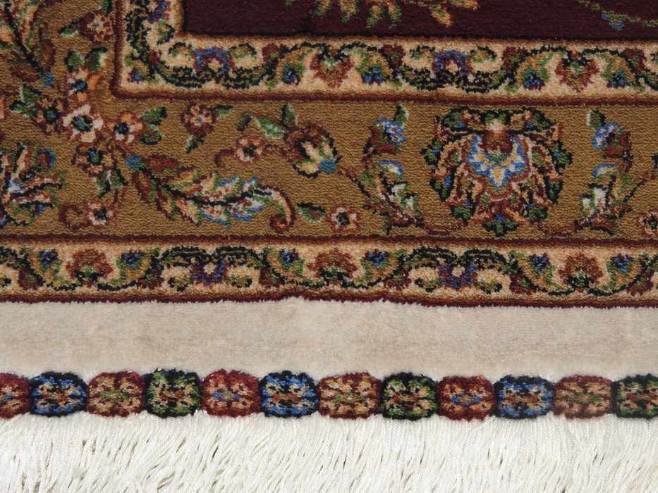 Pure Silk Persian Qum Design Rug