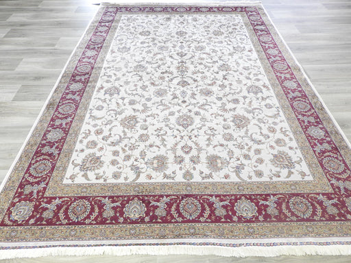 Pure Silk Persian Qum Design Rug-Silk Rug-Rugs Direct