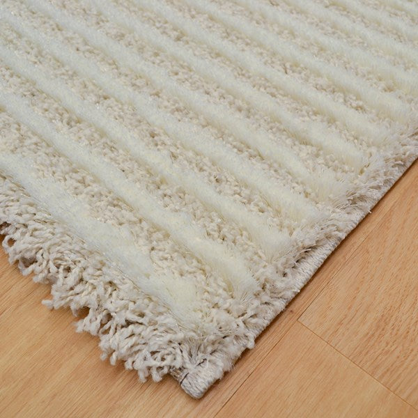 Spectrum Ivory Coulor Shaggy Rug Size:120 x 170cm-Shaggy Rug-Rugs Direct