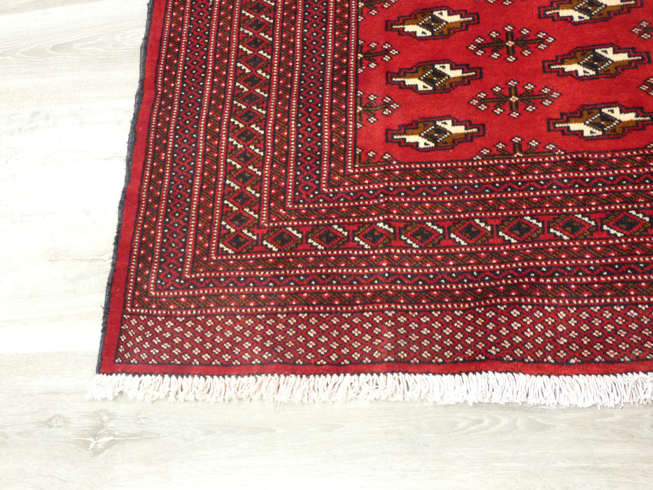 Persian Hand Knotted Turkman Rug Size: 295 x 205cm-Persian Rug-Rugs Direct