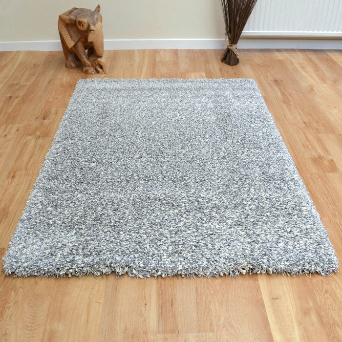 Twilight Pearl Silver Ivory Mix Shaggy Rug