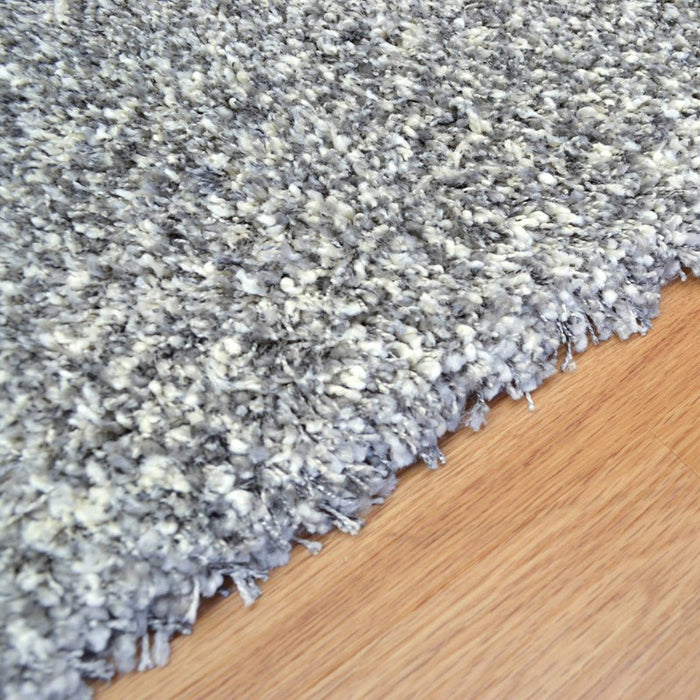 Twilight Pearl Silver Ivory Mix Shaggy Rug-Shaggy Rug-Rugs Direct