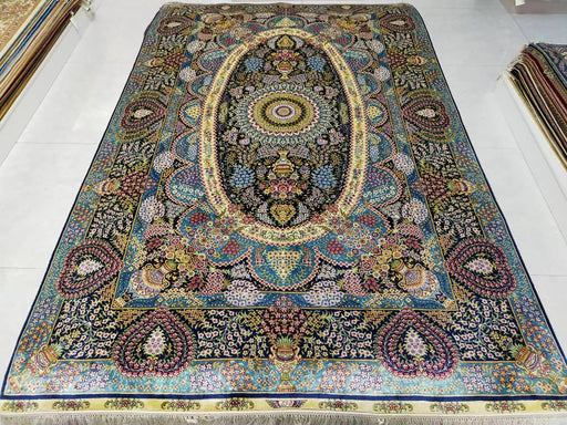 Hand Knotted Persian Design Pure Silk Rug Size: 246 x 155cm