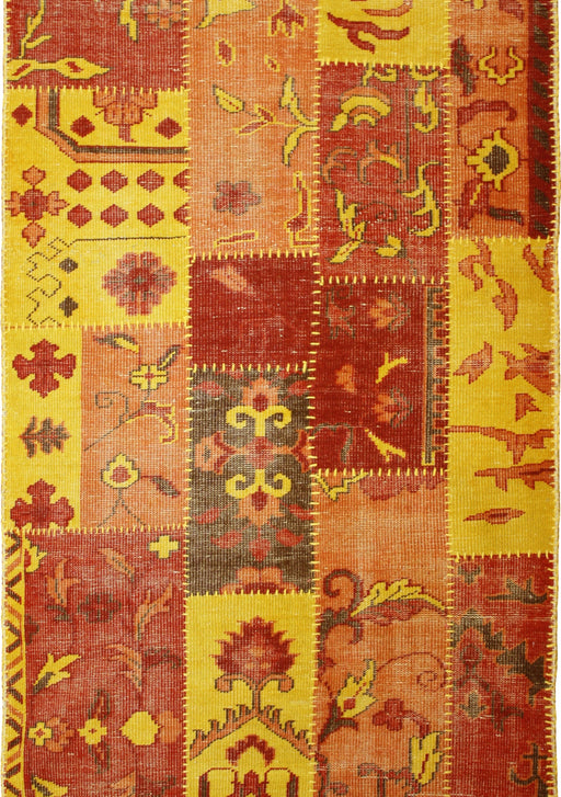 Patchwork Amberglow Coloured Rug