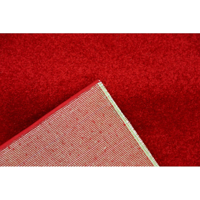 Plain Red Colour Turkish Hallway Runner 100cm Wide x Cut To Order-Hallway Runner-Rugs Direct