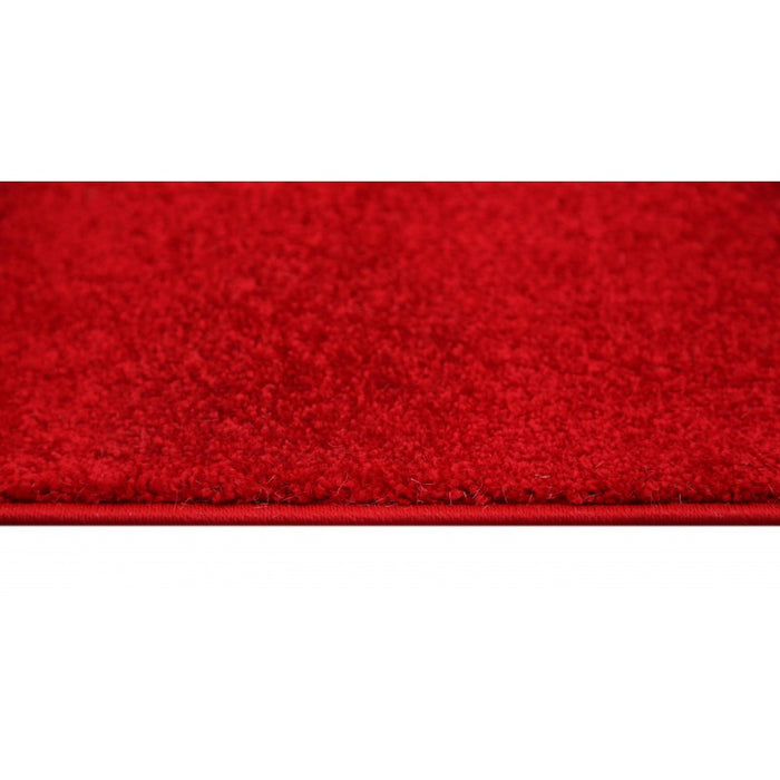 Plain Red Colour Turkish Hallway Runner 120cm Wide x Cut To Order-Unclassified-Rugs Direct