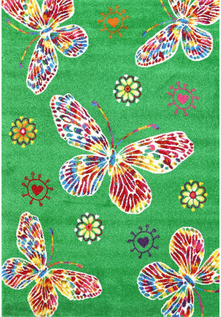 Butterfly Design Kids Rug Size: 120 x 170cm