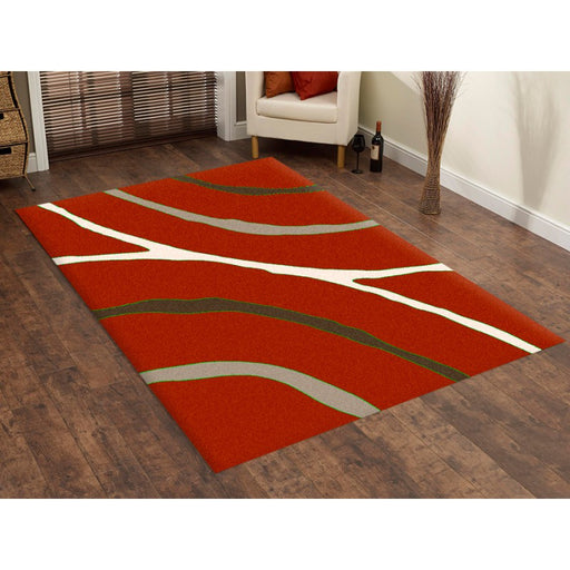 Red Contemporary Design Modern Turkish Rug-Modern Rug-Rugs Direct