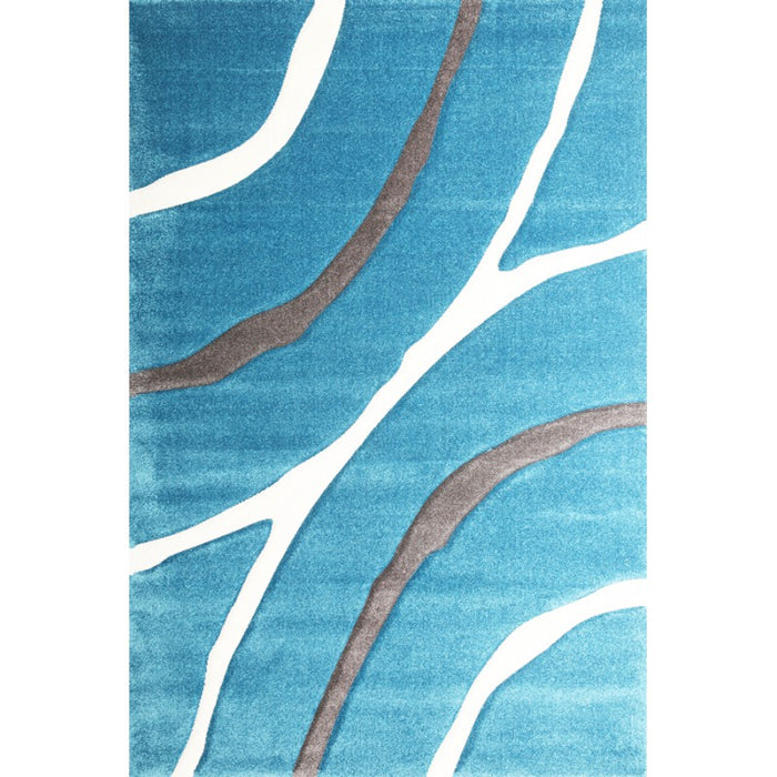Teal Blue Turkish Modern Rug
